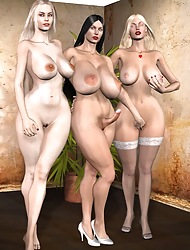 Hot 3D Trannies