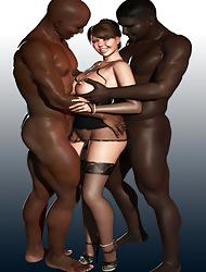 3d Interracial Shagging